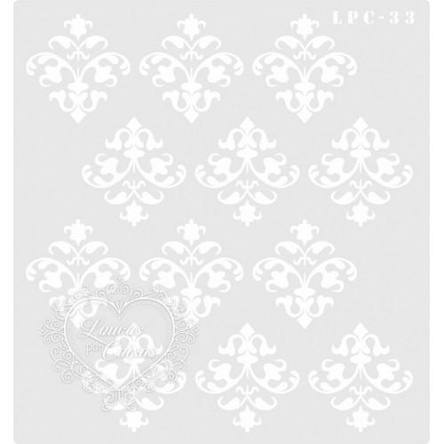 Stencil Estamparia Arabesco - 20x18,5cm - Ref. 33