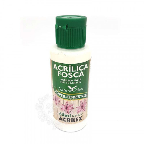 Tinta acrílica fosca 60ml Nature Colors - Branco