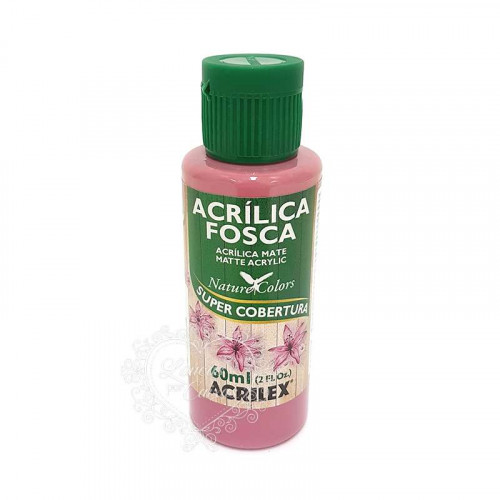 Tinta acrílica fosca 60ml Nature Colors - Rosa Ciclame