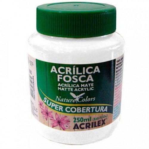 Tinta acrílica fosca 250ml Nature Colors - Branco