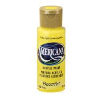 Tinta Decoart Americana Yellow Light..