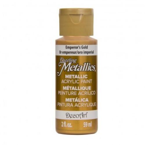 Tinta Decoart Dazzling Metálica Emperos Gold