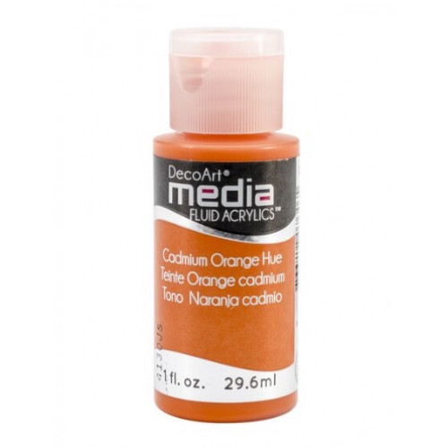Tinta Decoart Media Fluid Cadmium Orange Hue