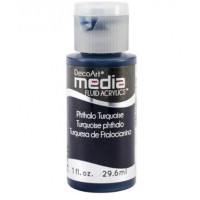 Tinta Decoart Media Fluid Phthalo Turquo..