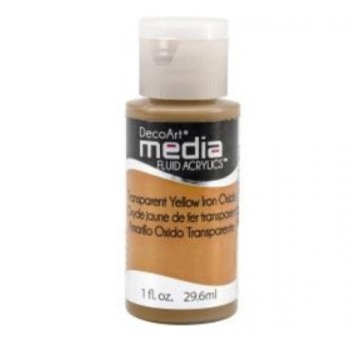 Tinta Decoart Media Fluid Transparent Yellow Iron Oxide