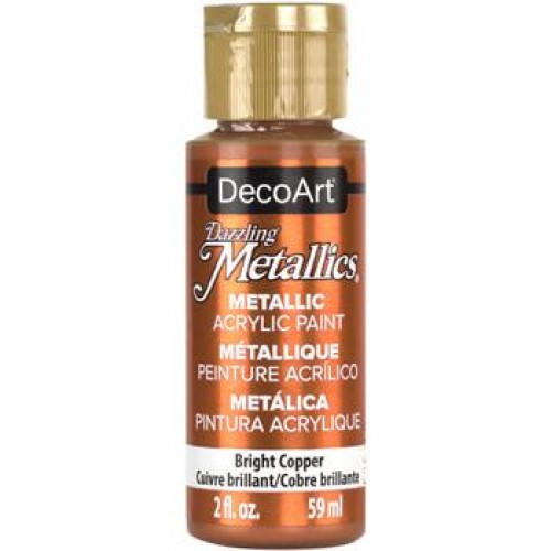 Tinta Decoart Dazzling Metalica Bright Copper