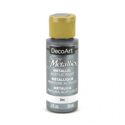 Tinta Decoart Dazzling Metálica Zinc