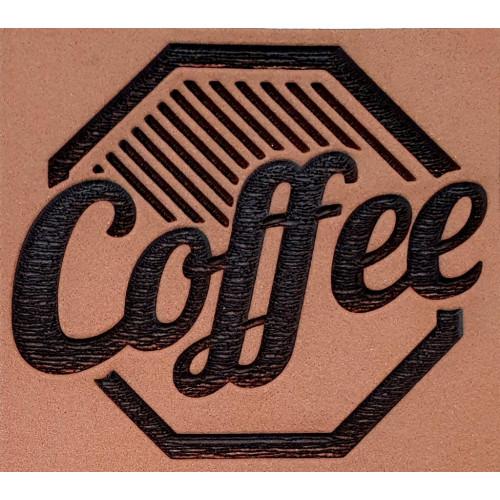 Molde de EVA Placa Relevo - Coffee Sextavado