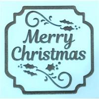 Molde de EVA Placa Relevo - Merry Christ..