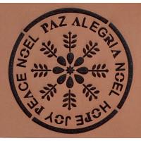 Molde de EVA Placa Relevo - Noel, Paz, A..