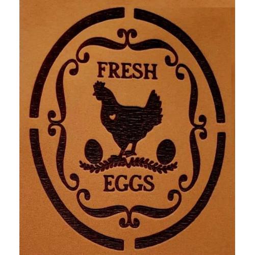Molde de EVA Placa Relevo - Galinha Fresh Eggs