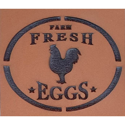 Molde de EVA Placa Relevo - Farm Fresh Eggs