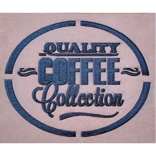 Molde de EVA Placa Relevo - Quality Coffee Collection