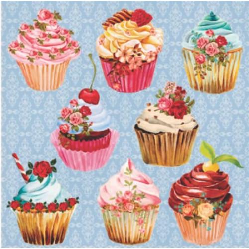 Papel 180g cupcake 2 dupla face 30,5 x 30,5