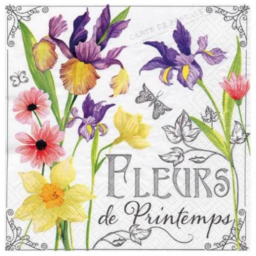 Guardanapo Fleurs de Printemps - 2 unid