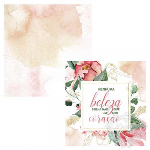Card - Nenhuma beleza brilha mais que um bom coração - CD-046