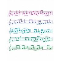 stencil pauta musical - 18x23..