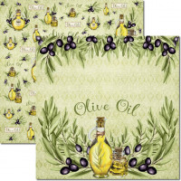 Papel  Olive 1 - 180g Dupla Face 30.5x30..