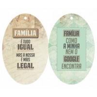 Aplique Tag Oval Familia..
