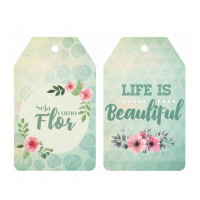 Aplique Tag - Life Is Beaultiful, Seja C..