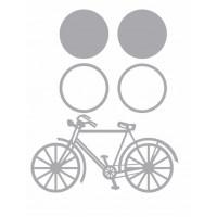 Aplique Chipboard - Bicicleta Sobreposiç..