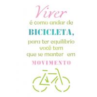 Stencil Viver é como andar de bicicleta ..