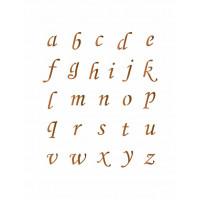 Stencil Alfabeto Minúsculo Cursivo 02 - ..