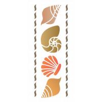 stencil conchas mar - 12x28..