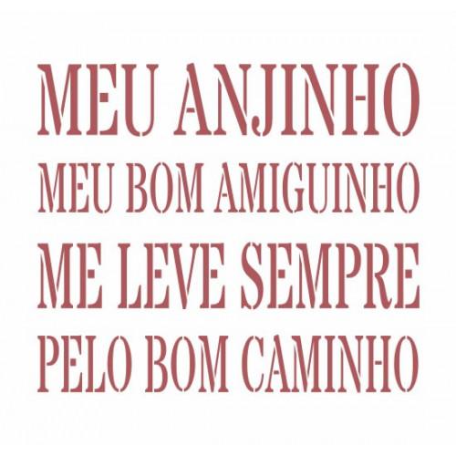 Stencil Meu Anjinho - 15x15
