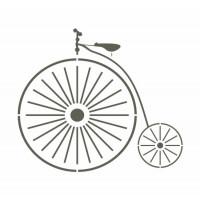 Stencil Bicicleta Antiga - 15x15..