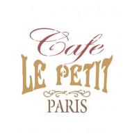 Stencil Café Paris - 15x15..