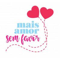 Stencil  mais amor por favor - 15 x 15..