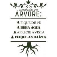 stencil conselhos de uma árvore - 18x23..