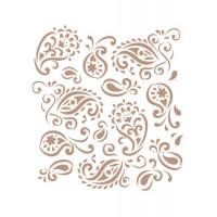 stencil fundo arabescos - 18x23..