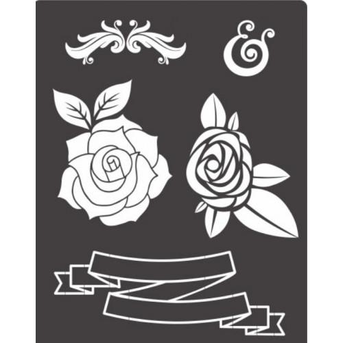 stencil ornamentos lettering chalkboard  - 18 x 23