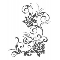 Stencil Arabesco Floral - 18 x 23..