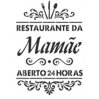 Stencil Restaurante da Mamãe - 18x23..