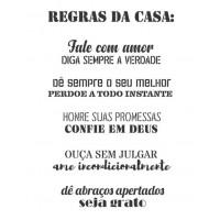 Stencil Frases Regras da Casa - 2 unidad..