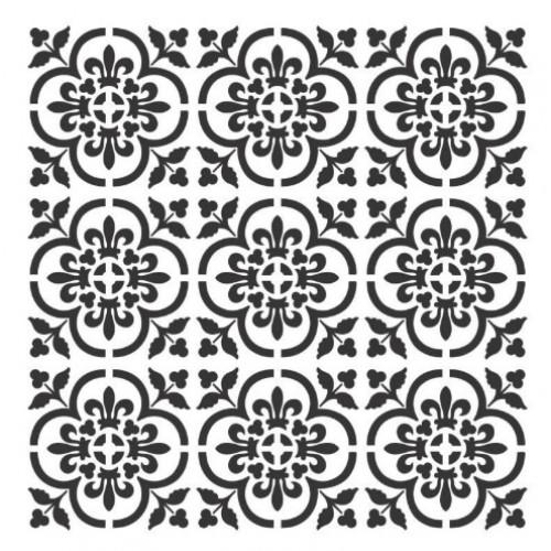 Stencil Fundo azulejo - 25x25