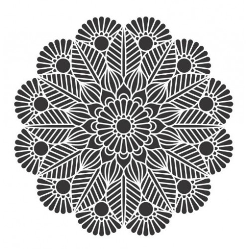 Stencil Mandala - 25x25