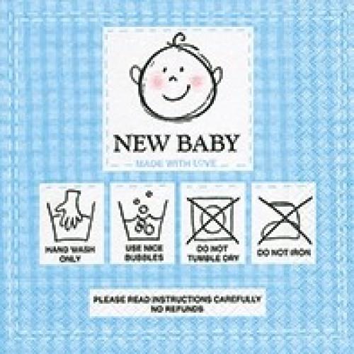 guardanapo new baby blue - 2 unid