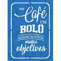 Stencil Um Café Um Bolo - 18x24 cm..