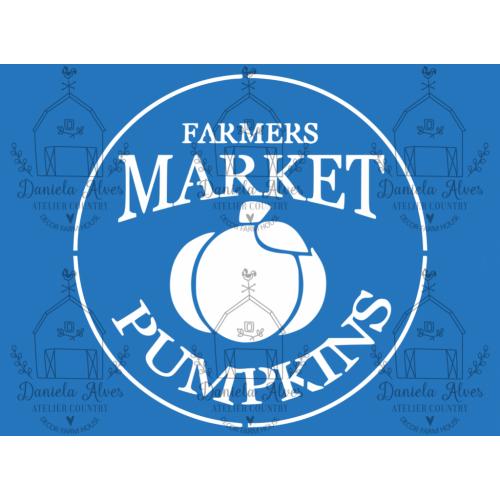 Stencil Farmers Market Pumpkins - 18x24 cm
