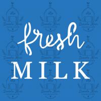 Stencil Fresh Milk - 10x10 cm..