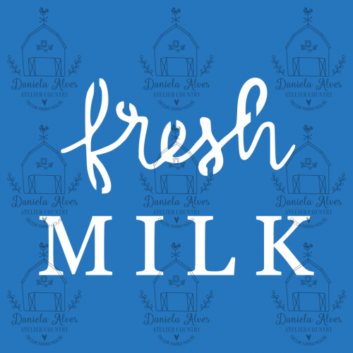 Stencil Fresh Milk - 10x10 cm