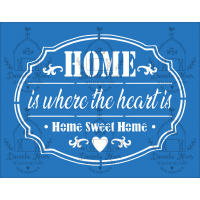 Stencil Home Is Where The Heart Is - 18x..