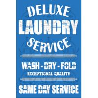 Stencil Deluxe Laundry Service - 18x24 c..