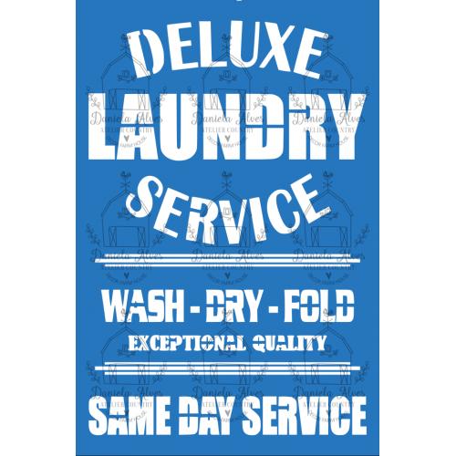 Stencil Deluxe Laundry Service - 18x24 cm