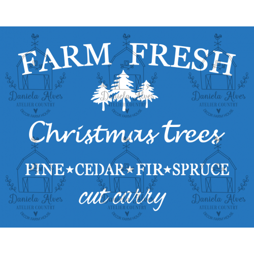 Stencil Farm Fresh Christmas Trees - 18x24 cm
