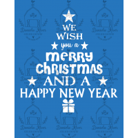 Stencil Merry Christmas, Happy New Year ..